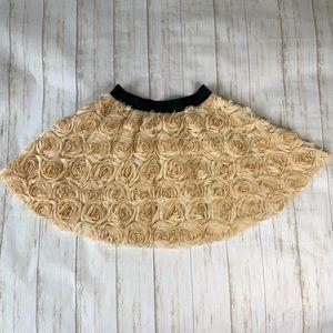 Free People Skirt Rosette Mini Texture Ivory